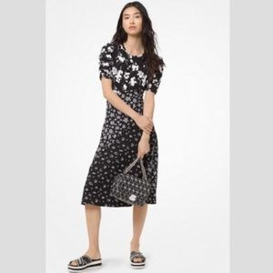 NEW! MK Midi Floral Stretch Sequin Dress